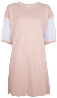 Chloé contrasting floral sleeve shift dress