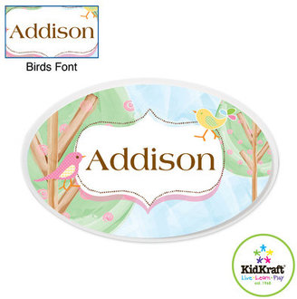 Kid Kraft Personalized Birds Oval Wall Plaque