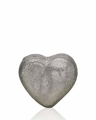 Judith Leiber Couture Heart Crystal Clutch Bag, Silver $2,995 thestylecure.com