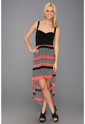 Type Z Kiri Chiffon Dress (Pink/Black) - Apparel