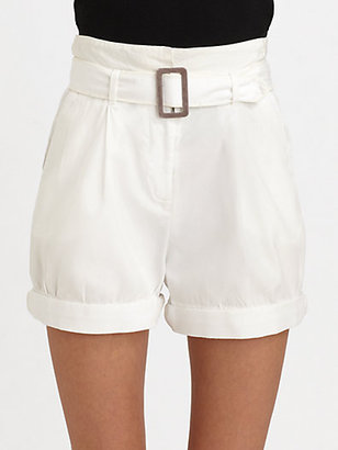 Elizabeth and James Brady Belted High-Waisted Shorts