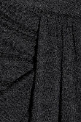Rick Owens LILIES draped jersey midi skirt