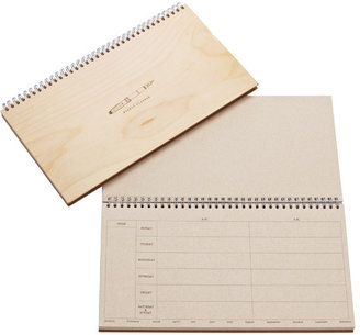 Container Store Woodgrain Weekly Planner