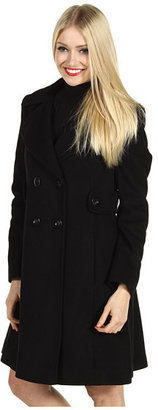 Nicole Miller Side Tab Wool Coat