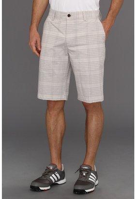 adidas ClimaLite Neutral Plaid Short '13 (Black/Chrome/White) - Apparel