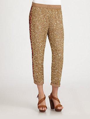 Haute Hippie Sequin Trousers