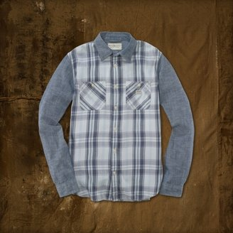 Denim & Supply Ralph Lauren Plaid-Panel Ward Shirt