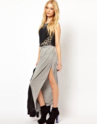 River Island Drape Side Maxi Skirt