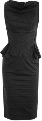 Nina Ricci Polka-dot peplum dress