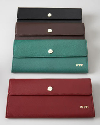 Abas Saffiano Leather Travel Wallet