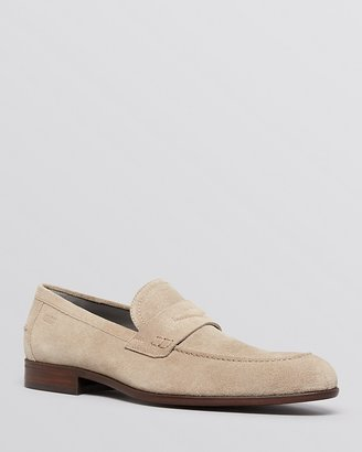 HUGO BOSS Bront Suede Penny Loafers