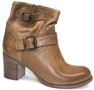 "Cordani Pompano"" Beige Leather Short Boot"
