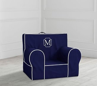 Pottery Barn Kids My First Navy with White Piping Anywhere Chair