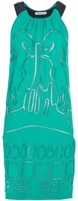 Tsumori Chisato bi-colour embroidered dress