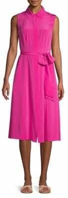Diane von Furstenberg Sleeveless Silk A-Line Dress