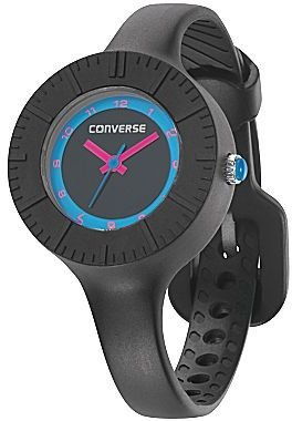 Converse The Skinny Black Silicone Watch