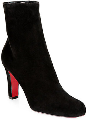 Christian Louboutin Miss Tack Suede Ankle Boots