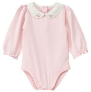 Janie and Jack Hand-Embroidered Collar Bodysuit