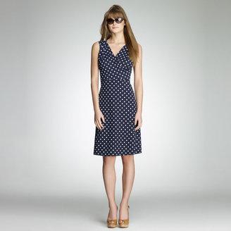 Jones New York Polka Dot Wrap Dress