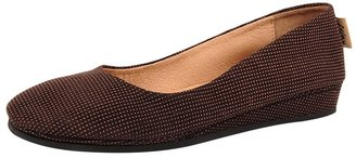 French Sole Shoes Zeppa in Textured Leather