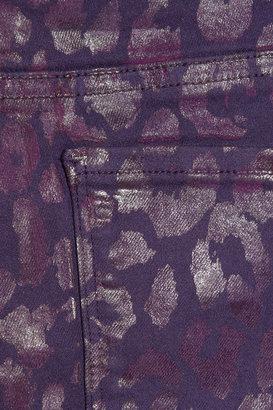 Karl Lagerfeld Courtney animal-print skinny jeans
