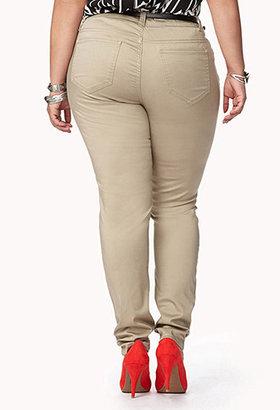 Forever 21 Woven Pants w/ Skinny Belt