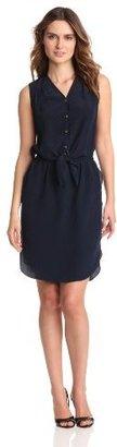 Magaschoni Women's Sleeveless Tie Waist Dress