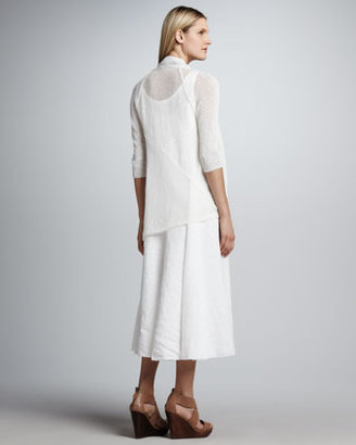 Eileen Fisher Handkerchief Long Linen Dress, Women's