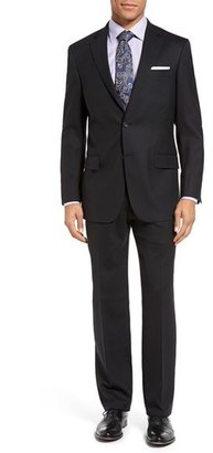Men's Hart Schaffner Marx New York Classic Fit Solid Stretch Wool Suit $695 thestylecure.com