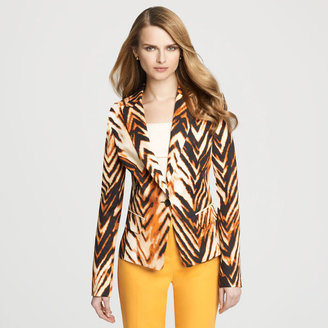 Anne Klein Tiger Print One Button Blazer