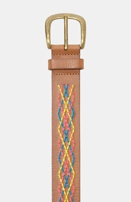 Fossil Embroidered Leather Belt