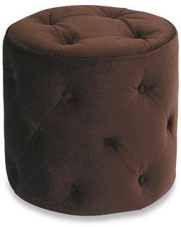 Bed Bath & Beyond Avenue Six Curves Round Ottoman - Chocolate