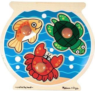 Melissa & Doug Wooden Fishbowl Jumbo Knob Puzzle