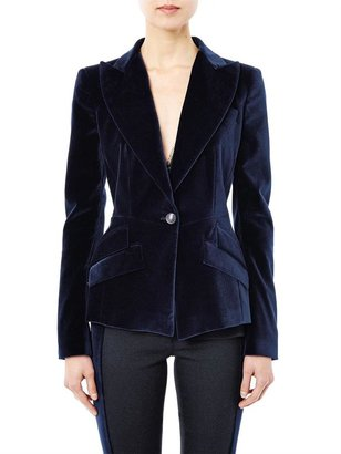 Antonio Berardi Velvet single-breasted jacket