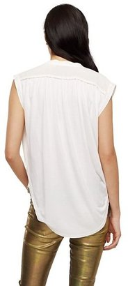 Juicy Couture Silk Jersey Sleeveless Blouse