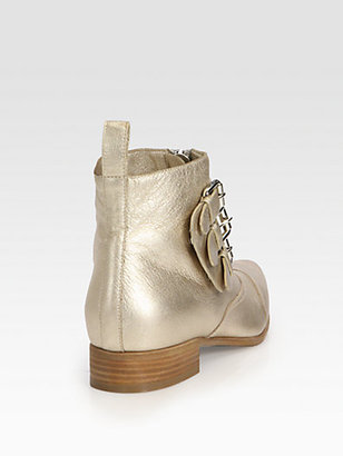 Tabitha Simmons Early Metallic Leather Ankle Boots