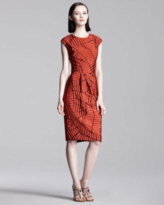 Lela Rose Fil Coupe Dress
