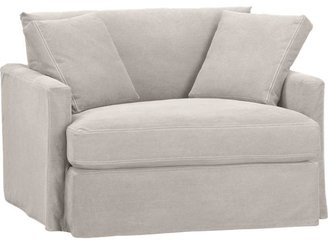 Crate & Barrel Lounge Slipcovered Chair and a Half