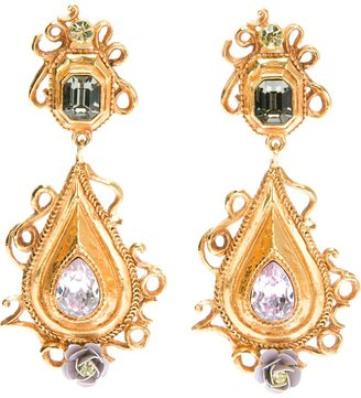 Christian Lacroix Vintage baroque style drop earring