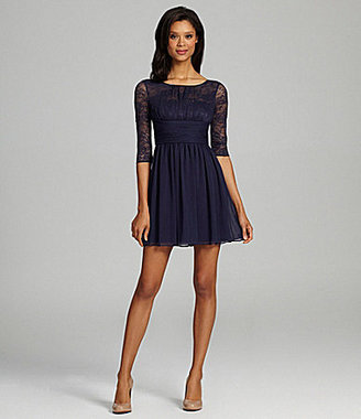 Max & Cleo Lace & Chiffon Dress