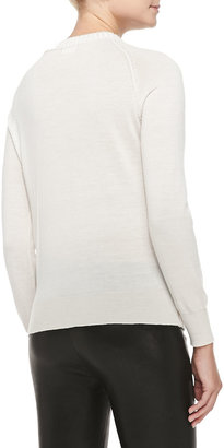 L'Agence Pullover Sweater with Braid Detail