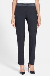 After Six Stretch Wool Tuxedo Pants