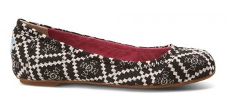 Toms Black Embroidered Women's Ballet Flats