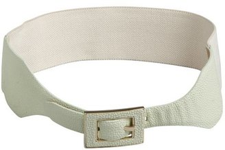 Vince Camuto mint stingray embossed leather stretch belt