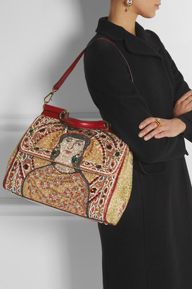 Dolce & Gabbana The Sicily large embroidered tote