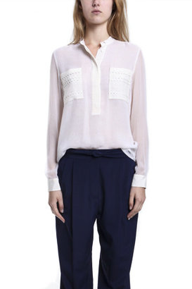 3.1 Phillip Lim Printed Silk Blouse