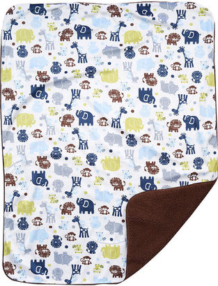 Triboro Quilt Mfg Co Just Born Boy Zoo Crew Blanket