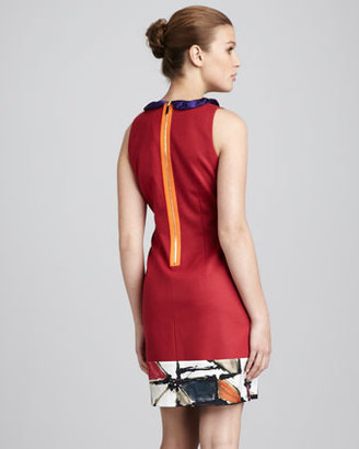 Elie Tahari Three-Tone Dress