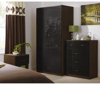 Panacea High Gloss 2-door, 1-drawer Wardrobe