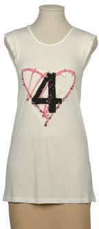 Only 4 Stylish Girls By Patrizia Pepe Sleeveless t-shirts